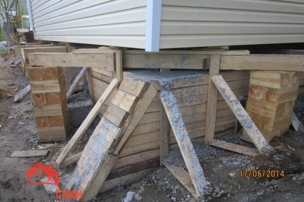 Ремонт фундамента при помощи бетонной ленты